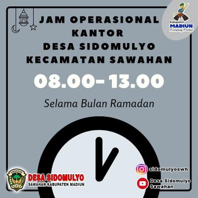 jam operasional selama ramadan tahun 2021